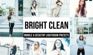 Bright Clean Mobile and Desktop Lightroom Presets
