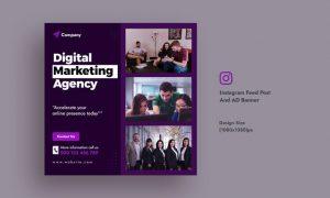Business & Digital Agency Instagram Feed AD Banner QGN3B9A