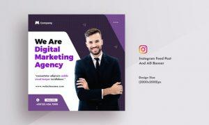 Business & Digital Agency Instagram Feed Post 6PUV2EJ