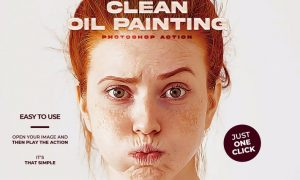 Clean Oil Painting Photoshop Action