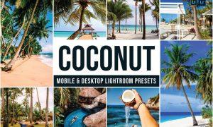 Coconut Mobile and Desktop Lightroom Presets