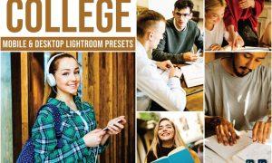 College Mobile and Desktop Lightroom Presets