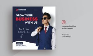 Corporate & Business Instagram Feed AD Post Banner 5DX8C7R