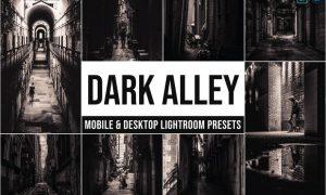 Dark Alley Mobile and Desktop Lightroom Presets