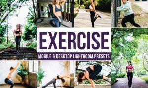 Exercise Mobile and Desktop Lightroom Presets