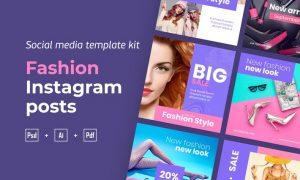 Fashion Instagram posts template kit - 01 Z9A75F3