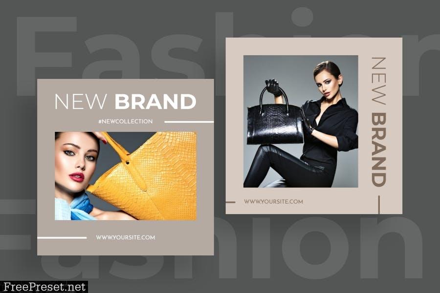 Fashion instagram posts template kit - 03 L9784ZF