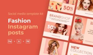 Fashion instagram posts template kit - 04 A2NXYNG