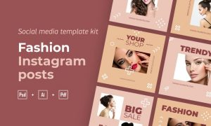 Fashion instagram posts template kit - 05 KUZ3QVE