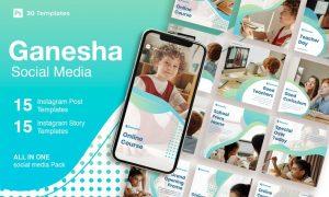 Ganesha - 30 Instagram Post & Story Template WUBD3ZC
