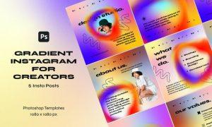 Gradient Instagram Templates for Creators 4F725EA