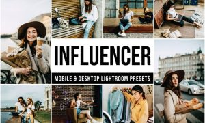 Influencer Mobile and Desktop Lightroom Presets