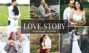 Love Story Photoshop Actions