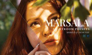 Marsala Mobile and Desktop Lightroom Presets