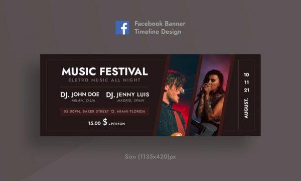 Music Festival Facebook Timeline Cover & Banner 4NVA5YB
