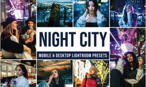 Night City Mobile and Desktop Lightroom Presets