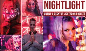 Nightlight Mobile and Desktop Lightroom Presets