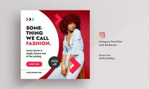 Promotional Fashionable Dress Instagram Feed Post YVY8JZQ