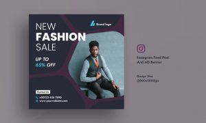 Promotional Fashionable Dress Sales Instagram Feed EDZ2FEP