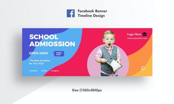 Schoole Admission & Education Facebook AD Banner 99GUZ5B