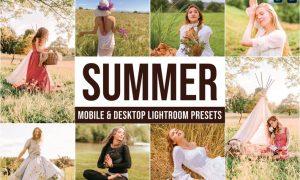 Summer Mobile and Desktop Lightroom Presets