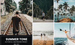 Summer Tone Photoshop Action & Lightrom Presets