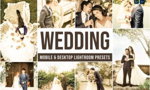 Wedding Mobile and Desktop Lightroom Presets