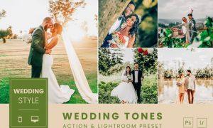 Wedding Tones Action & Lightroom Preset
