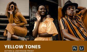 Yellow Tones Photoshop Action & Lightrom Presets