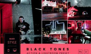 Black Tones Action & Lightroom Preset