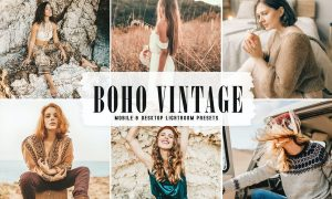 Boho Vintage Mobile & Desktop Lightroom Presets