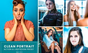 Clean Portrait Action & Lightrom Presets
