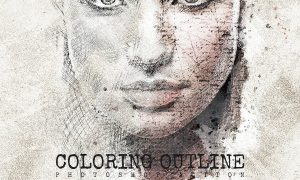 Coloring Outline Photoshop Action
