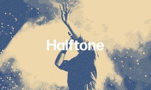 Cross Waves Halftone Photo Effect