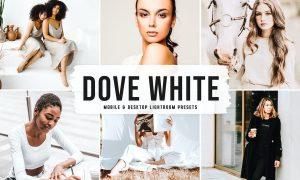 Dove White Mobile & Desktop Lightroom Presets