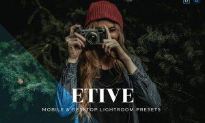 Etive Mobile and Desktop Lightroom Presets