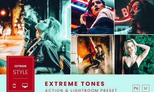 Extreme Tones Action & Lightroom Preset