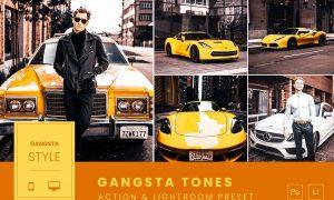 Gangstta Tones Action & Lightroom Preset