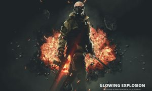Glowing Explosion Photoshop Action