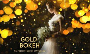 Gold Bokeh Photoshop Overlay Action