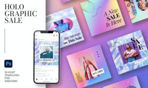 Holographic Sale Instagram CUHJ36P