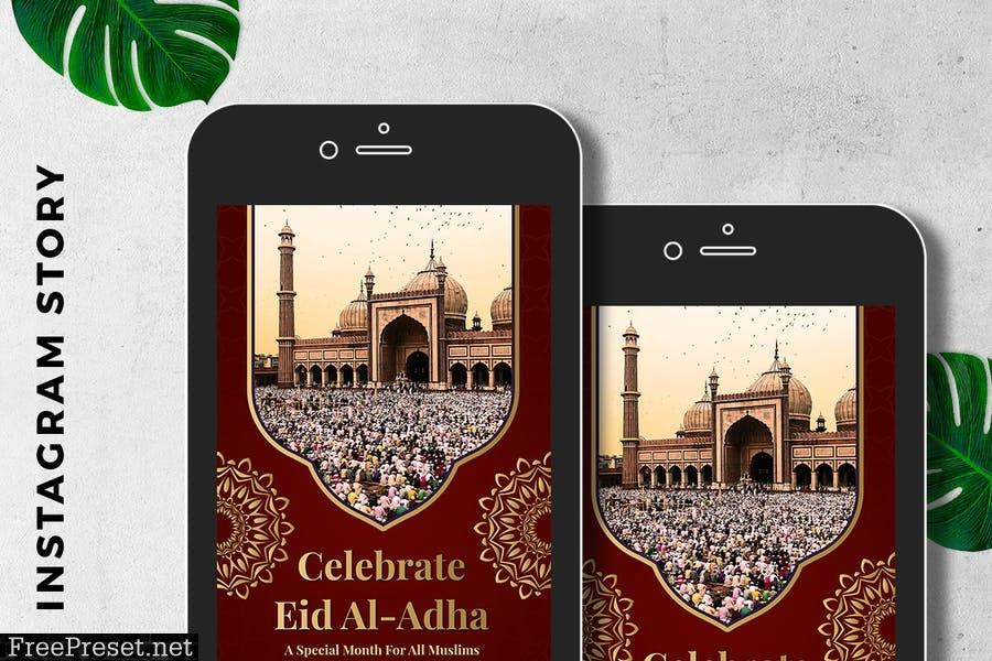 Instagram Story EID al-Adha Mubarak WF7AWBZ