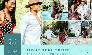 Light Teal Tones Action & Lightroom Preset
