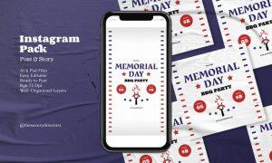 Memorial Day BBQ Instagram Pack FDSKK8K