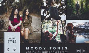 Moody Tones Action & Lightroom Preset