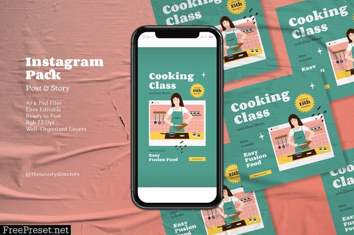 Online Cooking Class Instagram Pack 2WJ9W8N