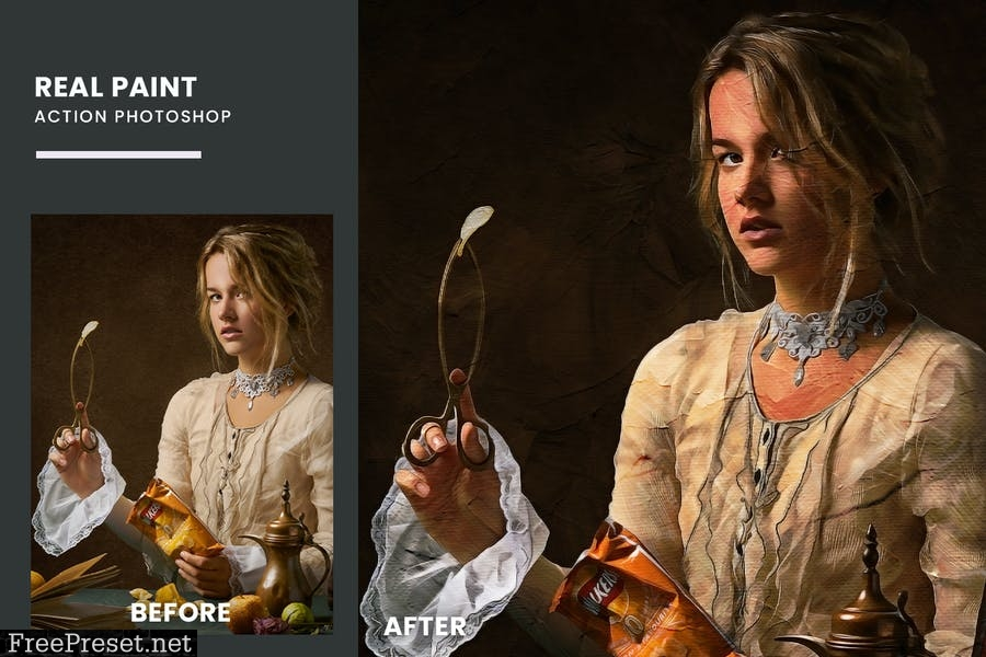 Real Paint Action Photoshop