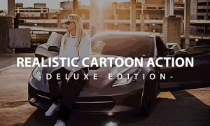 Realistic Cartoon Action Photoshop| Deluxe Edition