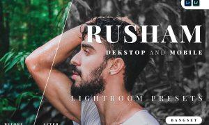 Rusham Desktop and Mobile Lightroom Preset