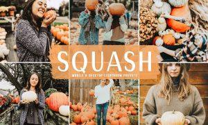 Squash Mobile & Desktop Lightroom Presets